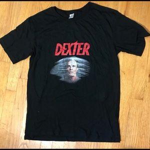 DEXTER black tee shirt size medium